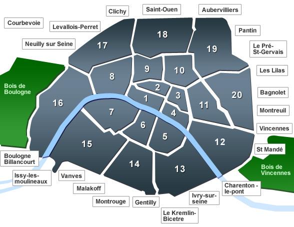Plan expositions Paris