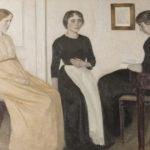 Tableau Vilhelm Hammershoi, 3 jeunes femmes, musée Jacquemart-André