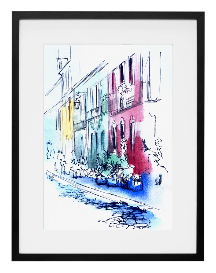 aquarelle-encre-rue-cremieux-paris-amalie-galstyan
