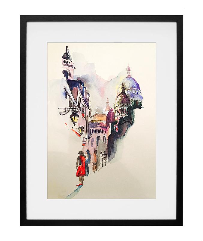 expo-paris-aquarelle-vue-de-montmartre-artiste-peintre-amalie