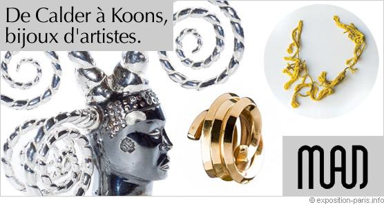 Expo Paris De Calder à Koons, bijoux d'artistes. MAD