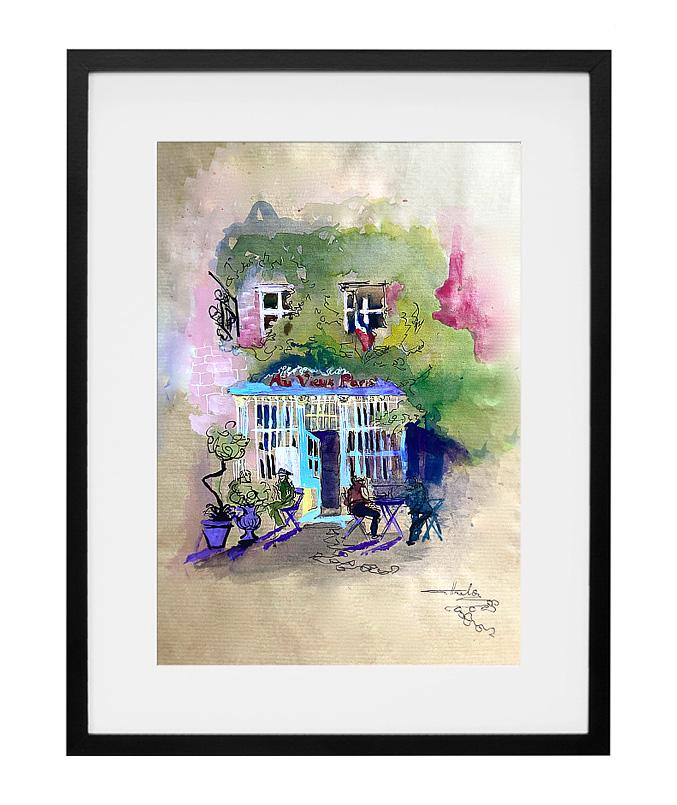 expo-paris-peinture-aquarelle-cafe-au-vieux-paris-d-arcole-amalie