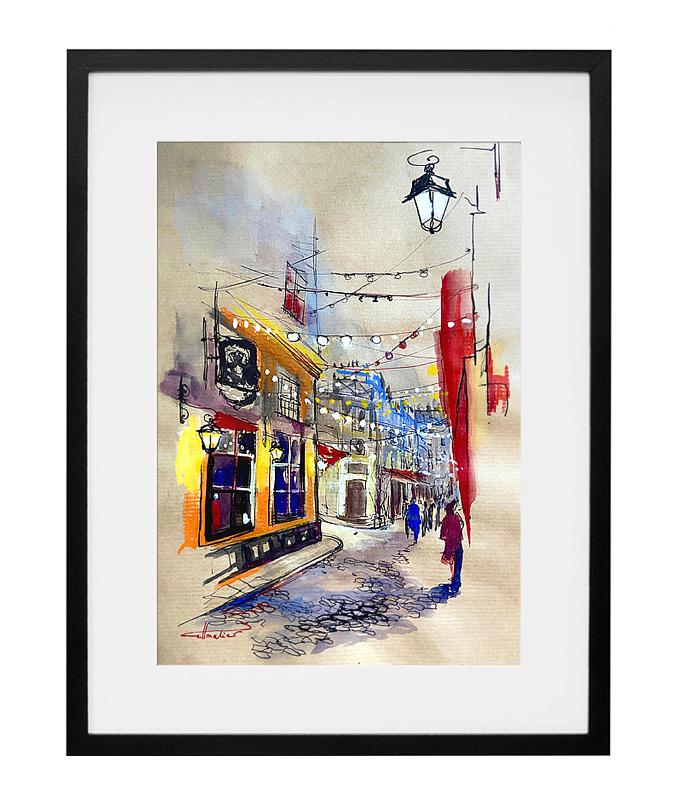 expo-paris-peinture-aquarelle-encre-passage-saint-andre-des-arts-paris