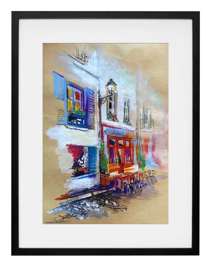gouache-aquarelle-restaurant-le-poulbot-paris-montmartre-amalie-galstyan-artiste-peintre