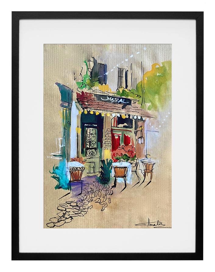 peinture-aquarelle-cafe-le-mistral-paris-amalie