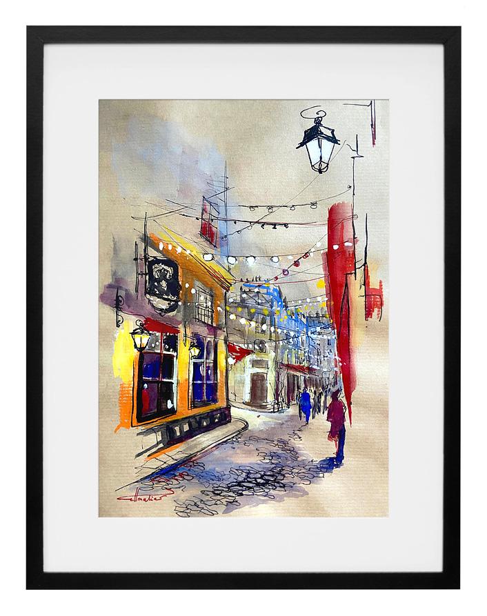 peinture-aquarelle-encre-passage-saint-andre-des-arts-paris