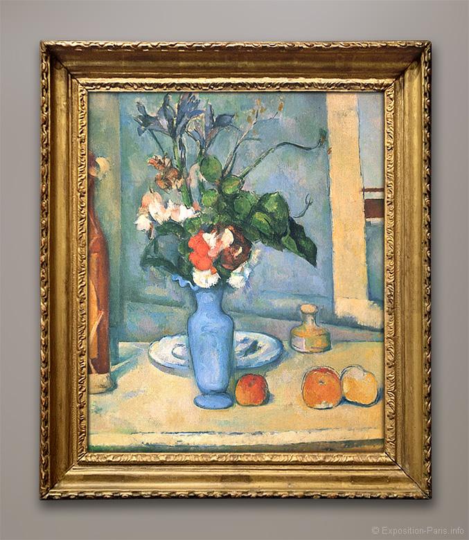 peinture-paul-cezanne-le-vase-bleu-musee-orsay-paris